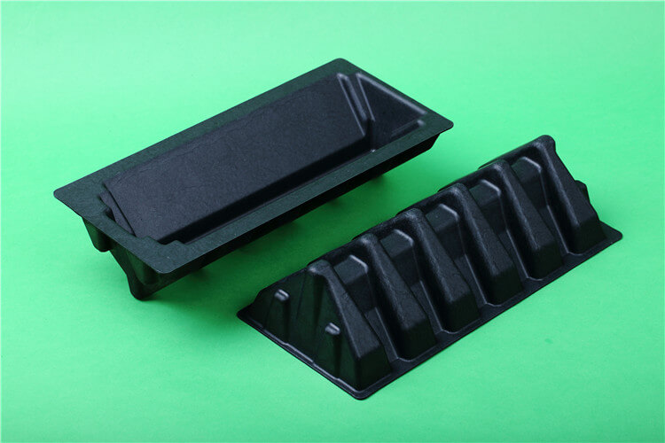 corner protective pulp tray