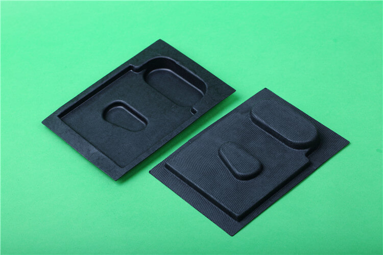custom black color molded insert tray