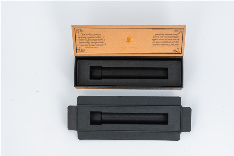 molded pulp tray in black