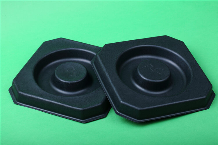 paper pulp tray in black