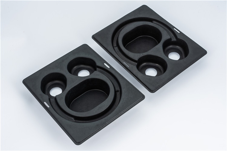 molded pulp tray for headset insert