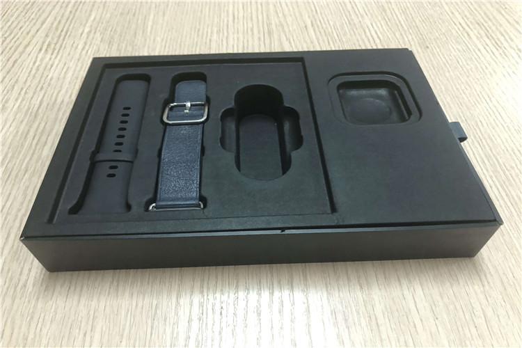 in black pulp trays for watch packaging