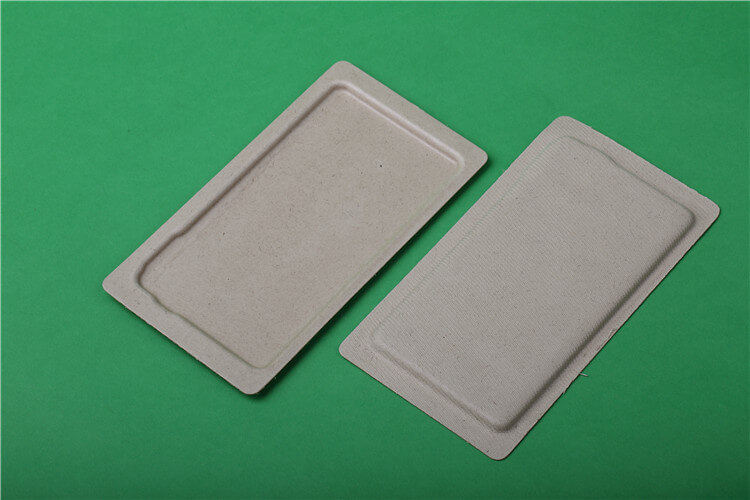natural plant fiber tray for cellphone