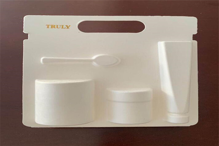 molded paper pulp tray for bottle tube
