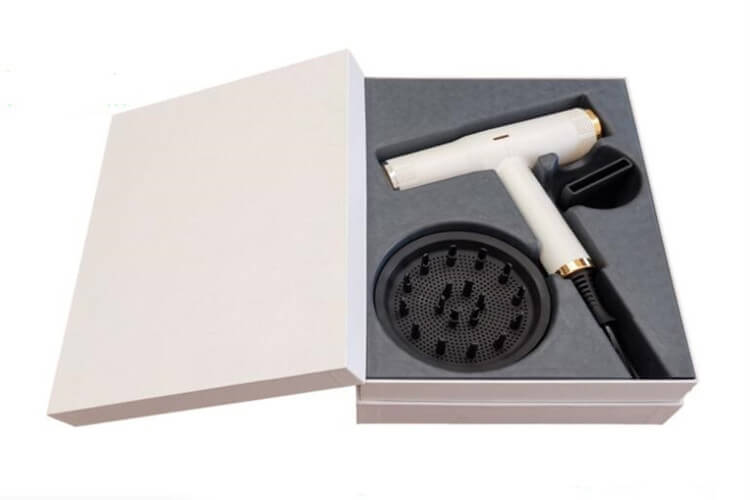 molded pulp tray for hair dryer